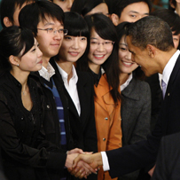 Obama Girl sets tongues wagging