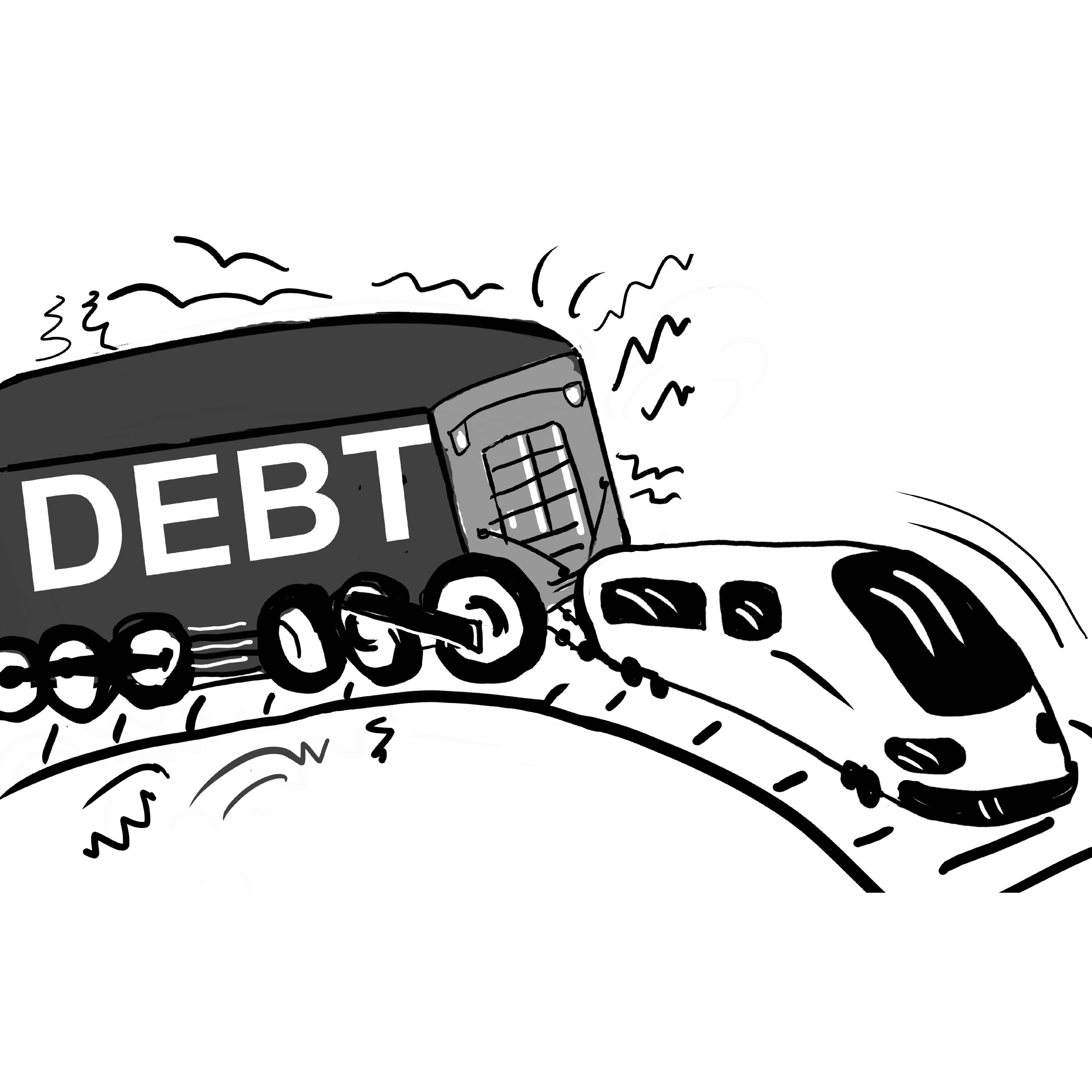 High-speed trains, high-scale debt
