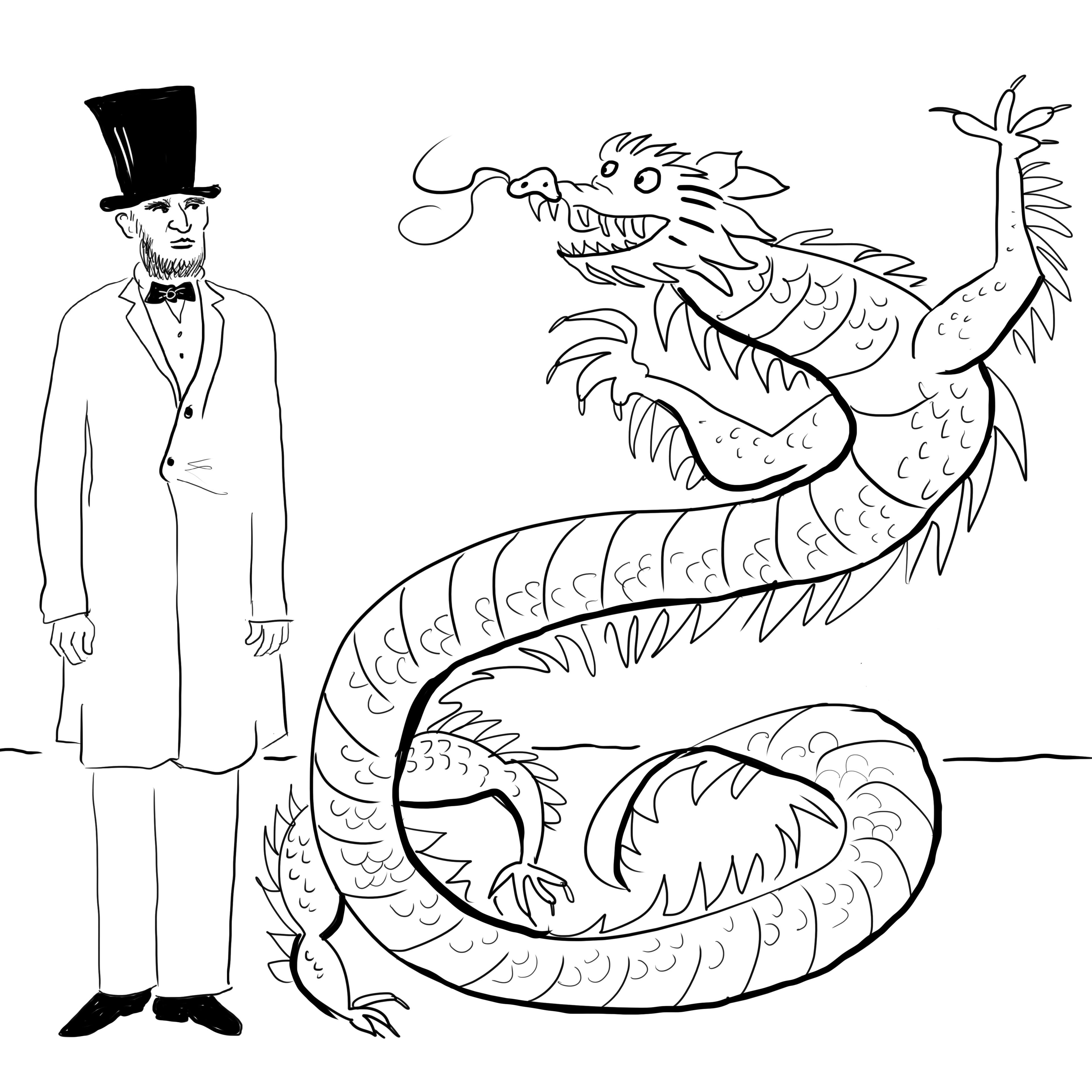Abe's a Dragon, not a Snake