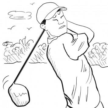 golfer w