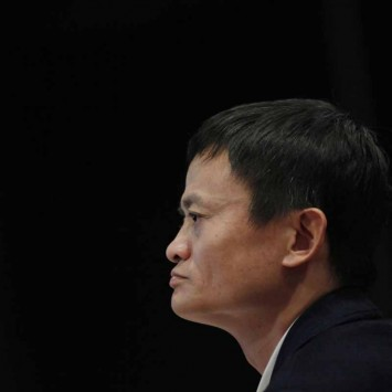 Ma, chairman of China's largest e-commerce firm Alibaba Group, attends a corporate event at the company's headquarters on the outskirts of Hangzhou