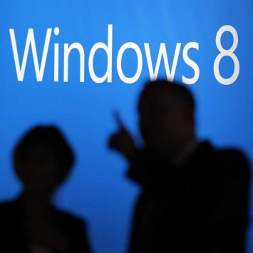 People arrive at the launch event for Microsoft Windows 8 operating system in New York