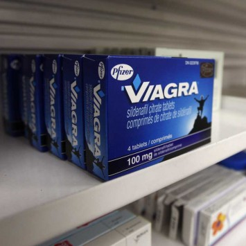 A box of Viagra is seen in a pharmacy in Toronto
