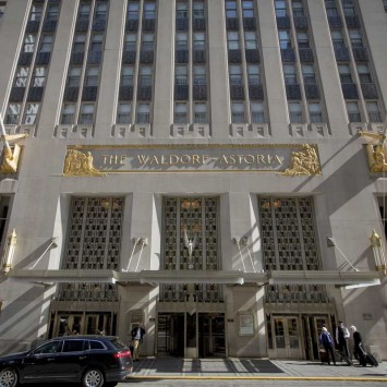The Waldorf Astoria is pictured at 301 Park Avenue in New York