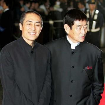 Chinese film director Zhang and Japanese actor Takakura arrive at Tokyo International Film Festival in Tokyo