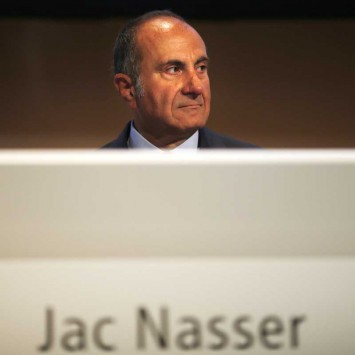 BHP Chairman Jac Nasser sits before the company's Australian annual general meeting in Sydney