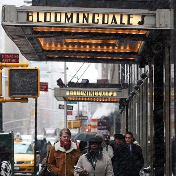 Pedestrians walk past Bloomingdale's in New York City.