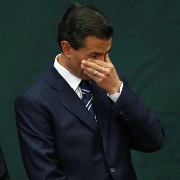 Mexico's President Pena Nieto gestures in Mexico City