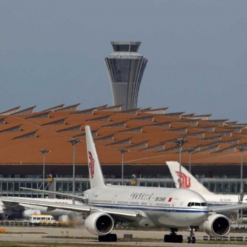 China Airlines planes are seen on the tarmac of Beijing Capital International Airport