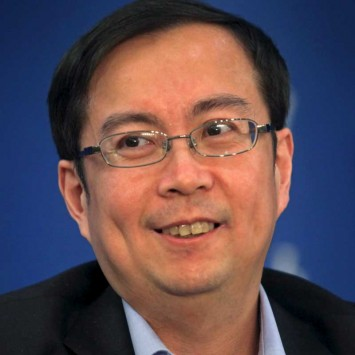 Alibaba COO Daniel Zhang attends a meeting in Beijing