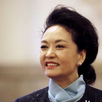 Peng Liyuan, the wife of China's President Xi Jinping, is pictured after a welcoming ceremony in Beijing