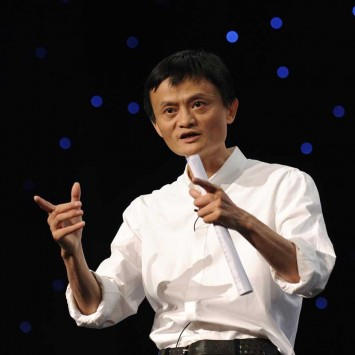 Chairman and Chief Executive of Alibaba Group Jack Ma delivers a speech at the 8th Netrepreneur Summit in Hangzhou