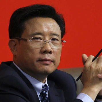 Liang, Chairman of Sany Heavy Industry Co Ltd attends an interview at press center of 18th National Congress of Communist Party of China in Beijing