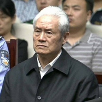 Still image of Zhou Yongkang, China's former domestic security chief, attending his sentence hearing in a court in Tianjin