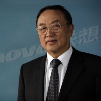 Lenovo Group Chairman Liu Chuanzhi poses for a photo in Beijing