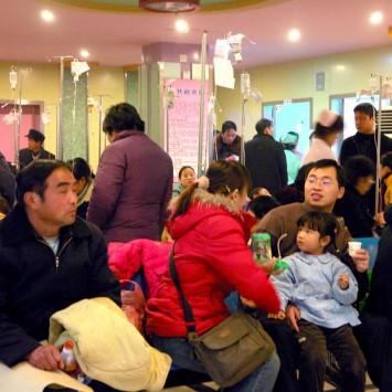 郑州:天气寒冷干燥 儿童感冒者众多