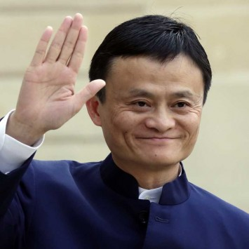 Jack ma at french meeting
