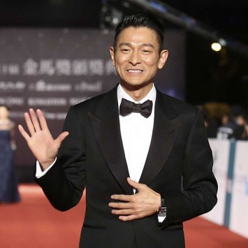 Hong Kong actor Lau poses on the red carpet  at the 50th Golden Horse Film Awards in Taipei