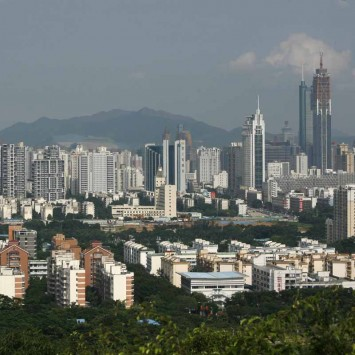 A general view of the southern Chinese city of Shenzhen