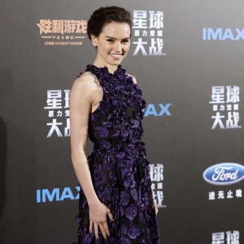 "Cast member Daisy Ridley arrives at the China Premiere of the film ""Star Wars: The Force Awakens"" in Shanghai"