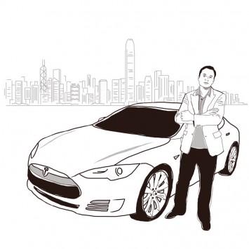Elon Musk w