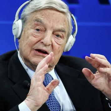 Soros, Chairman of Soros Fund Management, speaks during the session 'Recharging Europe' in the Swiss mountain resort of Davos