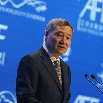 Xiao addresses the Asian Financial Forum in Hong Kong
