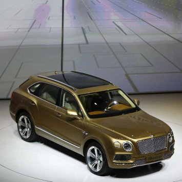 Bentley CEO Duerheimer presents Bentley Bentayga during the Volkswagen group night ahead of the Frankfurt Motor Show (IAA) in Frankfurt