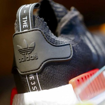The new NMD model is pictured at the flagship store in Berlin