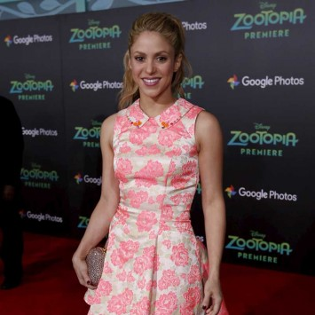 "Cast member Shakira, who gives voice to the character of Gazelle, poses at the premiere of ""Zootopia"" at El Capitan theatre in Hollywood"