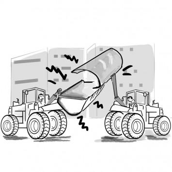 bulldozer w