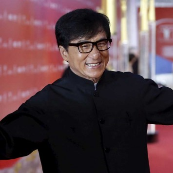 Hong Kong actor Jackie Chan arrives at the 18th Shanghai International Film Festival