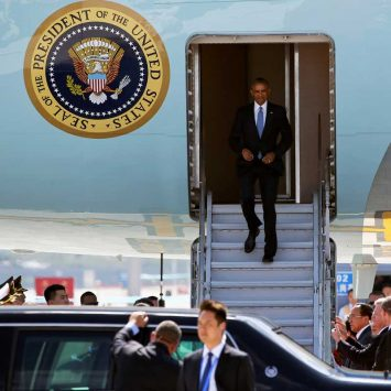 U.S. President Barack Obama arrives for the G20 Summit in Hangzhou