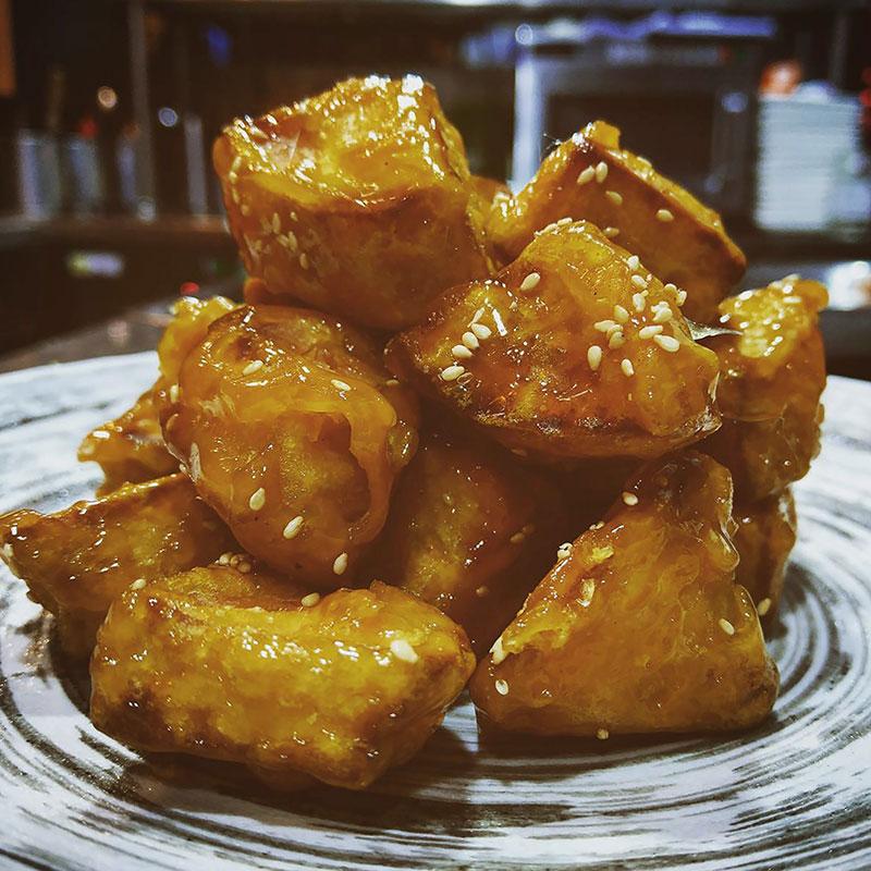 Basi Digua (Golden Thread Sweet Potato  拔丝地瓜)