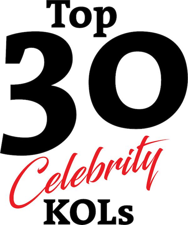 Top 30 Celebrity KOLs