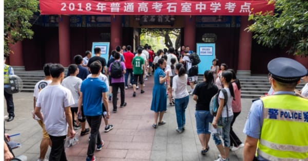 Judgement day: students taking the gaokao
