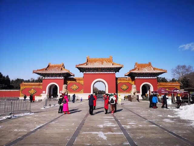 Entrance to the imperial tomb of the first Qing Emperor Huang Taiji