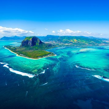 Aerial,View,Of,Mauritius,Island,Panorama,And,Famous,Le,Morne